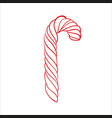 sketch christmas caramel stick vector image