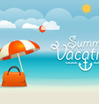 Summer seaside vacation Summer vacation concept vector image