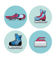 winter sports icons vector image