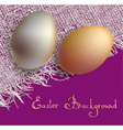 gold and silver 3d eggs vector image vector image
