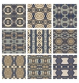 set of different seamless colored vintage vector image vector image