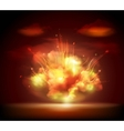 Night explosion background banner vector image
