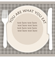 empty plate with fork and knife on stripped vector image