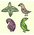 Birds decorative set vector image vector image