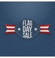 Flag Day Sale realistic Label with Ribbon vector image