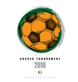 Drawing of soccer background Poster Brochure Logo vector image
