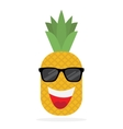 Happy pineapple in sun glasses vector image