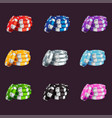 a set of colored game chips vector image