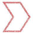 arrowhead right fabric textured icon vector image