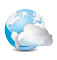 cloud based sharing global concept icon vector image