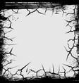 cracks grunge square shape vector image
