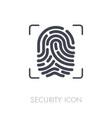 fingerprint icon fingermark symbol vector image