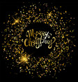 merry christmas golden ornaments vector image