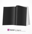 Open black page magazine vector image