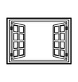 open window frame wooden image vector image