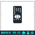 Remote control icon flat vector image