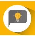 smartphone digital with idea bulb design isolated vector image
