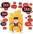 tax menace vector image