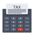 Calculator with Tax Form vector image vector image