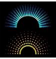Colour equaliser half round soundwaves vector image