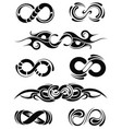 collection of infinities vector image vector image