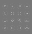 Interface pictograms collection vector image