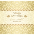 Baroque wedding invitation gold vector image