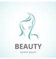 Sign of a woman face logo template vector image