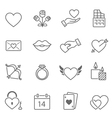 valentine outline stroke icon vector image