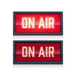 on air realistic sign vector image