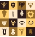 African animals icons vector image