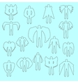 Angels silhouette icon set Different wing vector image