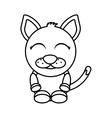 cat mascot cartoon isolated icon vector image