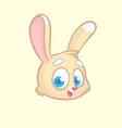 funny and cute cartoon rabbit head vector image