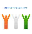 Human Icons for Indian Independence Day vector image