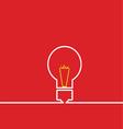 light bulb idea red vector image