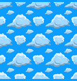 seamless pattern clouds clouds isolated on blue vector image