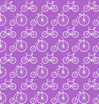 Seamless Pattern with Bicycles Background vector image