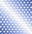Seamless stainless blue shade metallic grid vector image