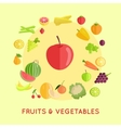 Set of Fruits Vegetables vector image