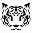 tiger head tattoo vector image