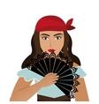 woman dancer flamenco character vector image