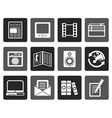 Flat Media and information icons vector image vector image