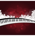 Blue template with piano vector image