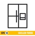 line icon refrigerator vector image