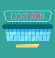advertising light sign on market poster vector image