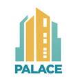 palace hotel building flat icon for real vector image