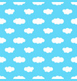 seamless pattern with blue sky and white clouds vector image vector image
