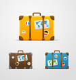 Different travel bags collection vector image