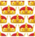 Golden crown in seamless pattern vector image